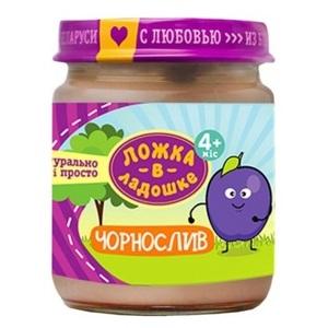 ЛОЖКА В ЛАДОШКЕ Пюре фруктовое Чернослив 100г с/б