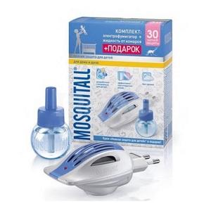 МОСКИТОЛ Набор от комаров Жидкость 30 ночей Нежная защита для детей 30мл+электрофумигатор