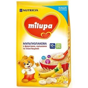МІЛУПА Каша молочна  мультизлакова з фруктами, пластывцями та кульками з 10міс. 210г