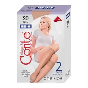 Гольфи жіночі CONTE TENSION 20 (2 пари), розмір23-25, колір natural