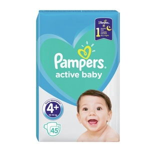 ПАМПЕРС Дет. подгуз. Act. baby-Dry Maxi+ (9-16кг) №45