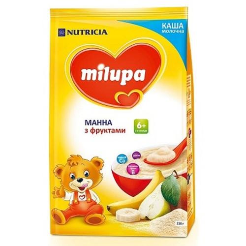 МІЛУПА Каша молочна манна з фруктами від 6 міс. 210г - фото 1 | Сеть аптек Viridis