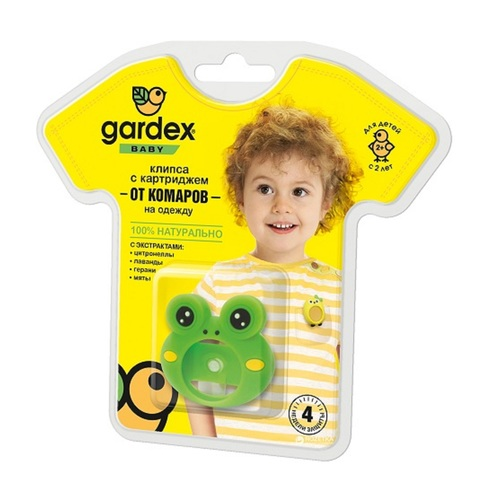 ГАРДЕКС Baby Клипса-подвеска от комаров с сменным картриджем - фото 1 | Сеть аптек Viridis