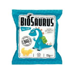 СНЕКИ кукурузные с морской солью McLLOYD'S «Динозаврики» органические, 15г