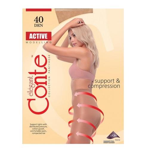 Колготы женские CONTE ACTIVE 40den, размер 5, цвет natural