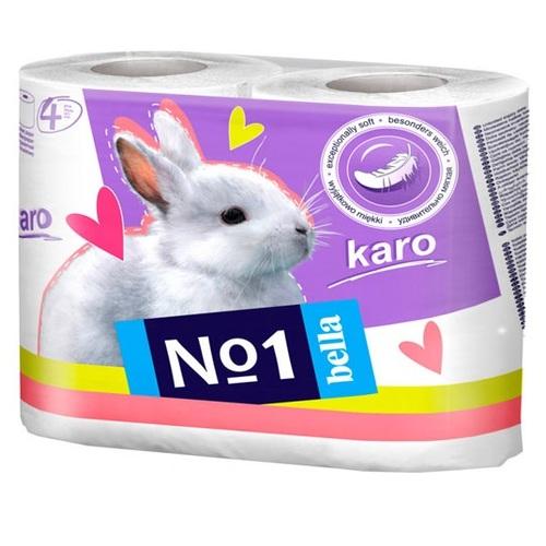 БЕЛЛА Бумага туалетная KARO белая 4 рулона - фото 1 | Сеть аптек Viridis