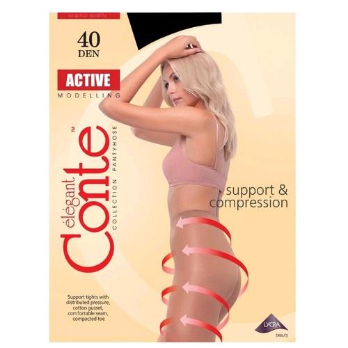 Колготи жіночі CONTE ACTIVE 40den, розмір 4, колір nero - фото 1   Сеть аптек Viridis