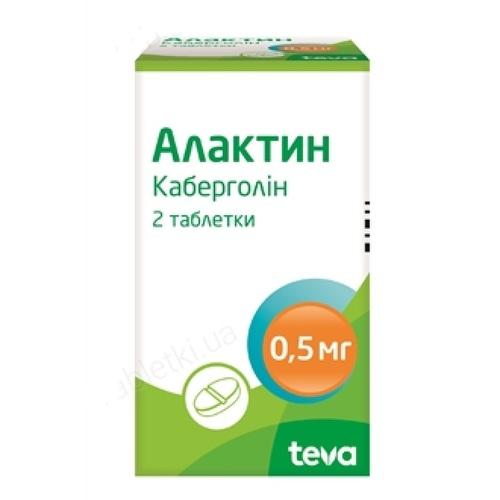 АЛАКТИН ТАБ. 0,5МГ №2 - фото 1 | Сеть аптек Viridis