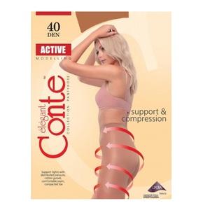 Колготи жіночі CONTE ACTIVE 40den, розмір 4, колір bronz