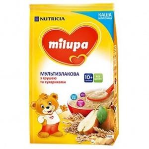 МІЛУПА Каша молочна мультизлакова з сухариками та грушею від 10 міс. 210г