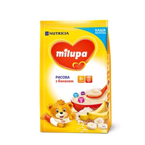 МИЛУПА Каша молочная рисовая с бананом с 5 мес. 210г - фото 1 | Сеть аптек Viridis