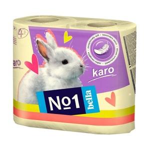 БЕЛЛА Бумага туалетная KARO желтая 4 рулона