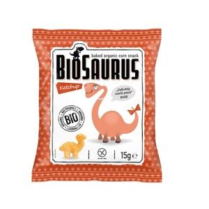 СНЕКИ кукурузные с кетчупом McLLOYD'S «Динозаврики» органические, 15г