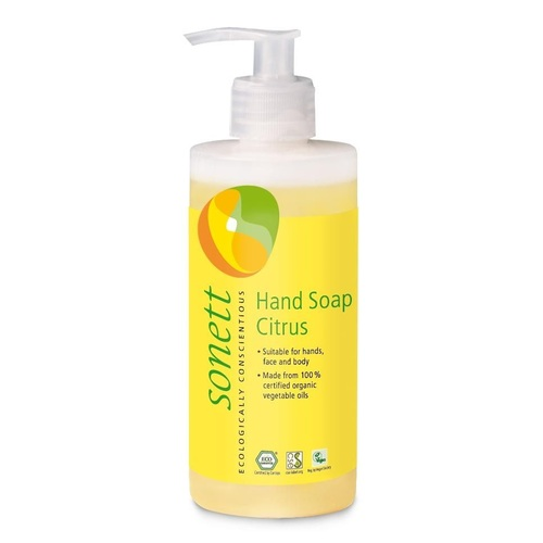 СОНЕТТ Органическое жидкое мыло лимон 300мл - фото 1   Сеть аптек Viridis