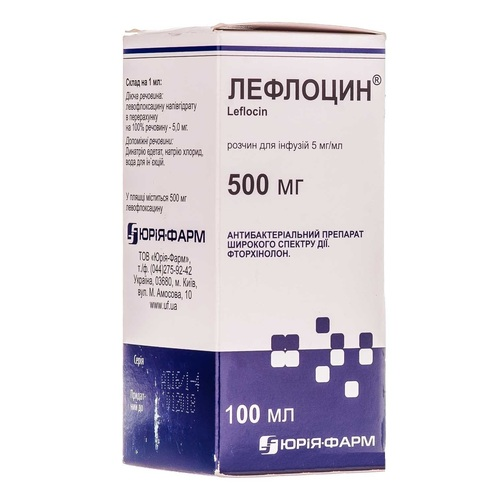 ЛЕФЛОЦИН Р-Н Д/ІНФ. 5МГ/МЛ 100МЛ - фото 1 | Сеть аптек Viridis