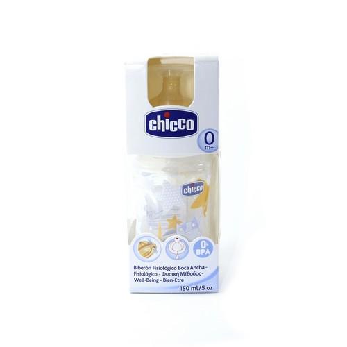Chicco Бутылка пластик.,150мл., для мал.-соска лат.норм.поток,(0м+)