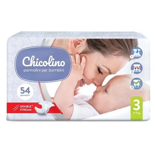 ЧИКОЛИНО подгуз. детский 3 (4-9 кг) 54  шт JUMBO - фото 1   Сеть аптек Viridis