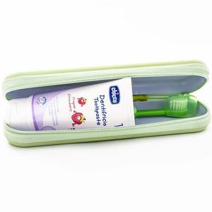 ЧИККО Дорожный набор: щетка зубная+паста(зел.)
