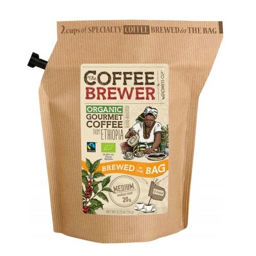 Гроверс Кап Кава мелена обсмажена з кофеіном органічна з Ефіопії для зав. пак 12шт  GROWER'S CUP Дан