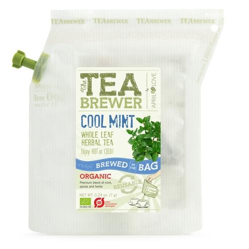 Гроверс Кап Чай на травах органічний пак 15шт GROWER'S CUP Данія 9 г /Кул мінт
