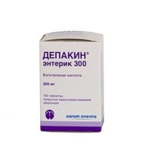 ДЕПАКИН ЭНТЕРИК ТАБ. 300МГ №100