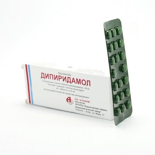 ДИПІРИДАМОЛ ТАБ. 25МГ №40