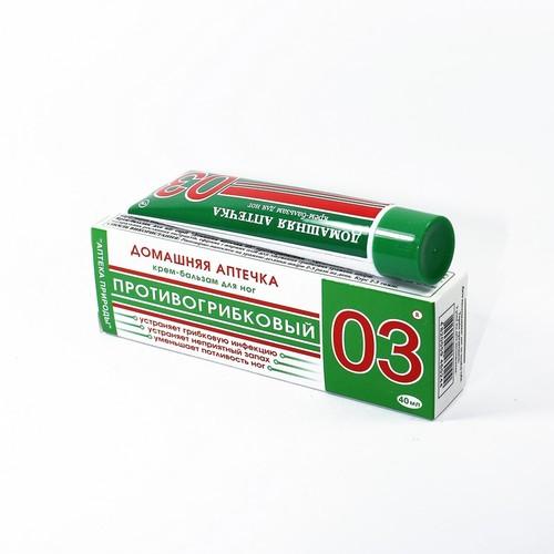 ДОМАШНЯЯ АПТЕЧКА 03 ПРОТИВОГРИБКОВЫЙ КРЕМ-БАЛЬЗАМ Д/НОГ 40МЛ - фото 1 | Сеть аптек Viridis