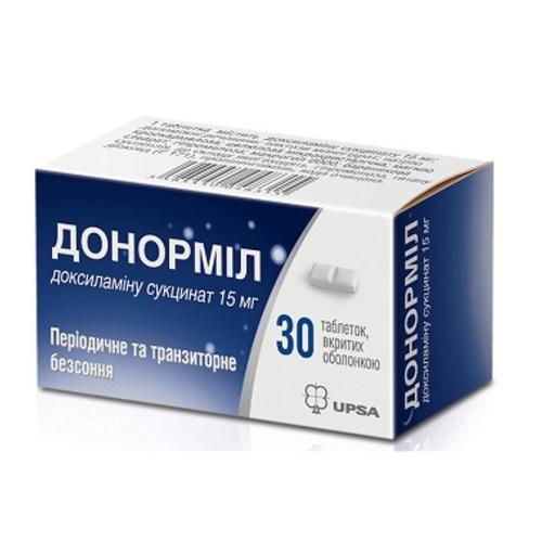 ДОНОРМИЛ ТАБ. 15МГ №30 купить в Славутиче