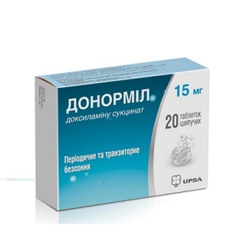 ДОНОРМИЛ ТАБ. ШИП. 15МГ №20 купить в Харькове