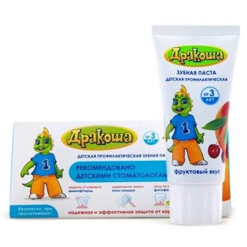 ДРАКОША Зубна паста Фруктовий смак 60мл/75г купити в Ирпене