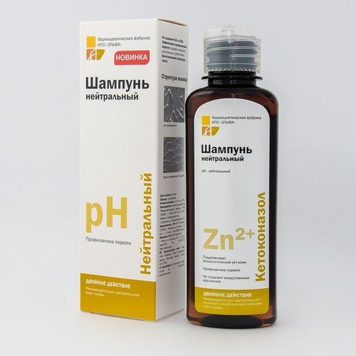 ЭЛЬФА КЕТОКОНАЗОЛ Шампунь нейтральный 150мл