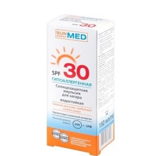 ЕЛЬФА SE MED Емульсія сонцезахисна для засмаги гіпоалергенна водостійка SPF30 150мл купити в Харкові
