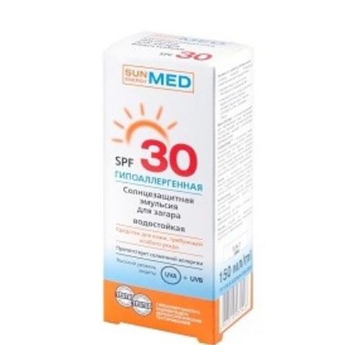 ЕЛЬФА SE MED Емульсія сонцезахисна для засмаги гіпоалергенна водостійка SPF30 150мл купити в Киеве