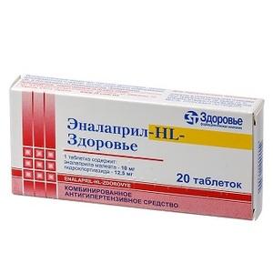 ЕНАЛАПРИЛ-HL-ЗДОРОВ'Я ТАБ. №20