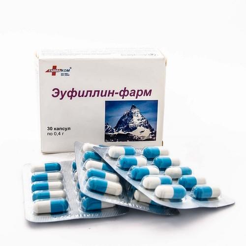 ЭУФИЛЛИН-ФАРМ КАПС. 0,4Г №30 купить в Броварах