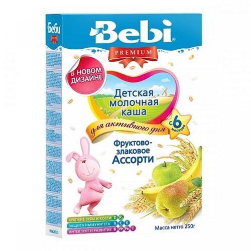 КОЛИНСКА БЕБИ Каша молочная фруктово-злаковое ассорти - фото 1 | Сеть аптек Viridis