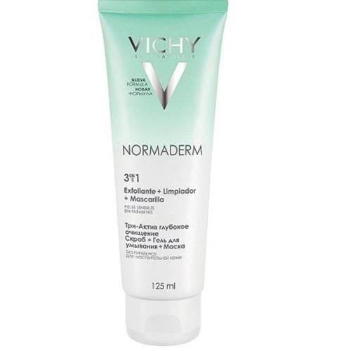 ВИШИ Нормадерм средство 3 в 1 для очищения лица тюбик 125мл - фото 1 | Сеть аптек Viridis