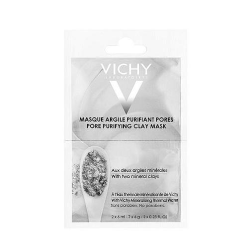 ВИШИ Маска минеральная с глиной для очищения пор кожи лица 6мл 2шт