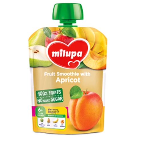 МІЛУПА Пюре фруктове Яблуко,груша,банан та абрикос з 6 місяців 80г