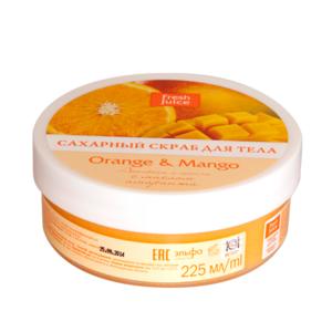 ЭЛЬФА FJ Сахарный скраб для тела Orange & Mango 225мл