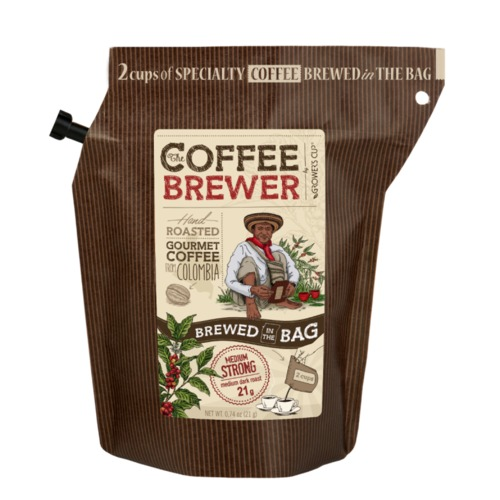 Гроверс Кап Кава мелена обсмажена з кофеіном з Колумбія для зав. GROWER'S CUP Данія 20 г - фото 1 | Сеть аптек Viridis