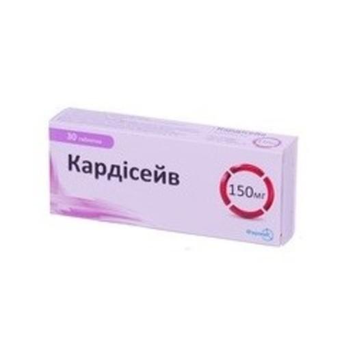 КАРДИСЕЙВ ТАБ. 150МГ №30 купити в Славутиче