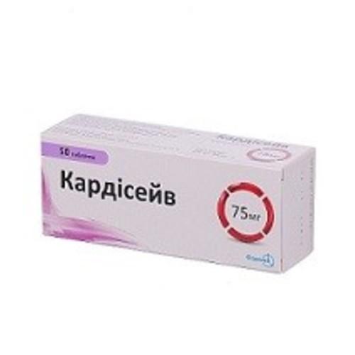 КАРДІСЕЙВ ТАБ. 75МГ №50 купити в Броварах