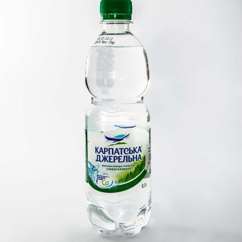 Карпатская джерельна слабогазована,мин.вода 0,5л. купити в Житомире