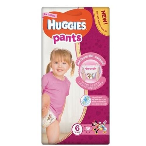 ХАГИС подгуз.-трусики Pants 6 (15-25кг) 36шт для девочек - фото 1 | Сеть аптек Viridis