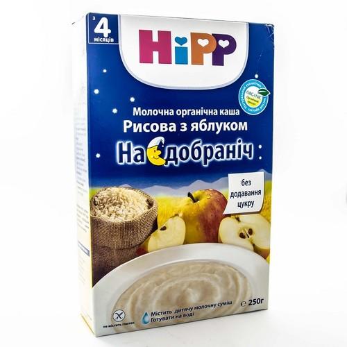 ХІПП БІО молочна рисова каша з яблуком «На добраніч» 250г купити в Ирпене