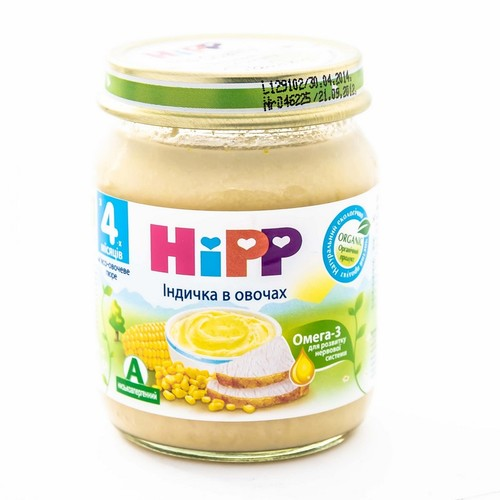 ХІПП Пюре Индичка в овочах 125г купити в Харкові
