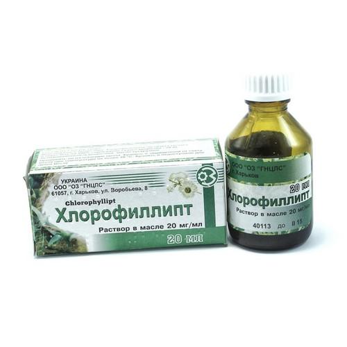 ХЛОРОФИЛЛИПТ МАСЛ. Р-Р 2% 25МЛ купить в Житомире