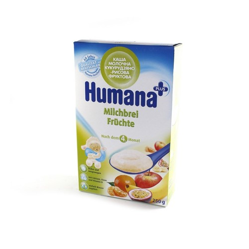 ХУМАНА Каша молочна кукурудзяно-рисова фруктова 250г купити в Славутиче