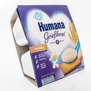 ХУМАНА Пудинг манный с печеньем для пит. детей от 8 мес. и старше 400г (4 * 100г)